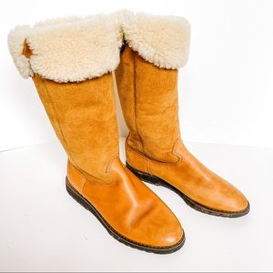 Bass Brown Suede/leather Aria Pull On Boots- SZ 8m